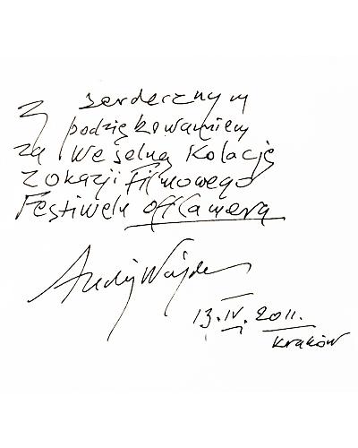 Dobra restauracja włoska - opinia Andrzej Wajda